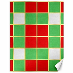 Christmas Fabric Textile Red Green Canvas 36  X 48