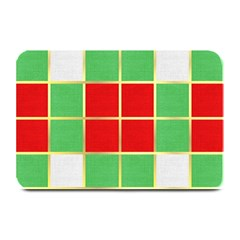 Christmas Fabric Textile Red Green Plate Mats