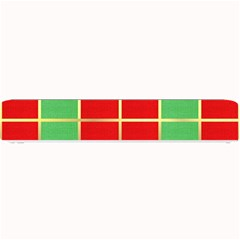 Christmas Fabric Textile Red Green Small Bar Mats