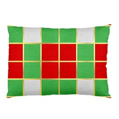 Christmas Fabric Textile Red Green Pillow Case