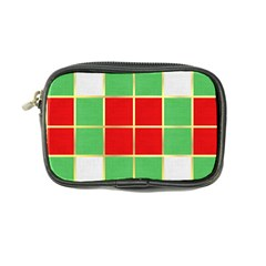 Christmas Fabric Textile Red Green Coin Purse