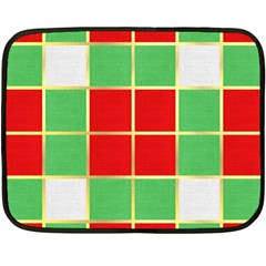 Christmas Fabric Textile Red Green Double Sided Fleece Blanket (Mini)