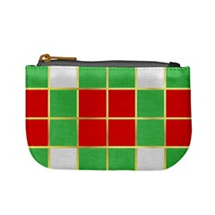 Christmas Fabric Textile Red Green Mini Coin Purses