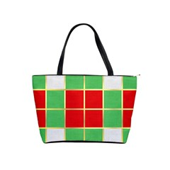 Christmas Fabric Textile Red Green Shoulder Handbags