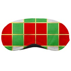 Christmas Fabric Textile Red Green Sleeping Masks