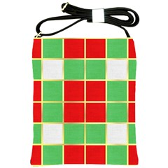 Christmas Fabric Textile Red Green Shoulder Sling Bags