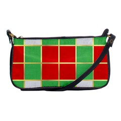 Christmas Fabric Textile Red Green Shoulder Clutch Bags