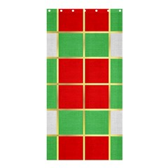 Christmas Fabric Textile Red Green Shower Curtain 36  x 72  (Stall)