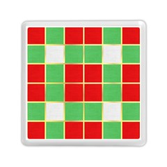 Christmas Fabric Textile Red Green Memory Card Reader (Square)