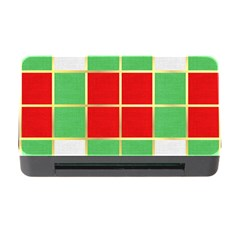 Christmas Fabric Textile Red Green Memory Card Reader With Cf