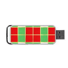 Christmas Fabric Textile Red Green Portable USB Flash (One Side)