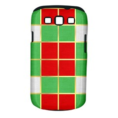 Christmas Fabric Textile Red Green Samsung Galaxy S Iii Classic Hardshell Case (pc+silicone)
