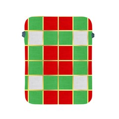 Christmas Fabric Textile Red Green Apple iPad 2/3/4 Protective Soft Cases