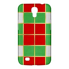 Christmas Fabric Textile Red Green Samsung Galaxy Mega 6.3  I9200 Hardshell Case