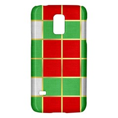Christmas Fabric Textile Red Green Galaxy S5 Mini