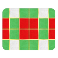 Christmas Fabric Textile Red Green Double Sided Flano Blanket (Large)