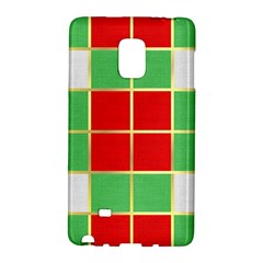 Christmas Fabric Textile Red Green Galaxy Note Edge