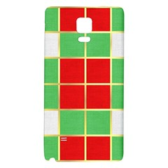 Christmas Fabric Textile Red Green Galaxy Note 4 Back Case