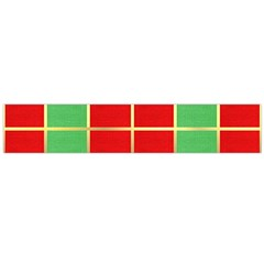 Christmas Fabric Textile Red Green Flano Scarf (Large)