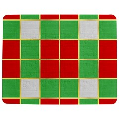 Christmas Fabric Textile Red Green Jigsaw Puzzle Photo Stand (Rectangular)