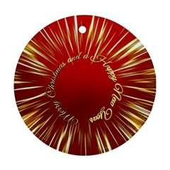 Christmas Greeting Card Star Ornament (Round)