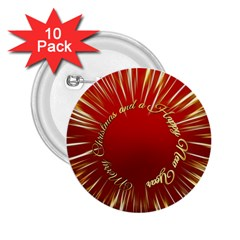 Christmas Greeting Card Star 2.25  Buttons (10 pack)