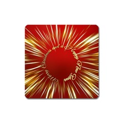 Christmas Greeting Card Star Square Magnet