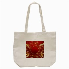 Christmas Greeting Card Star Tote Bag (Cream)