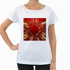 Christmas Greeting Card Star Women s Loose Fit T Shirt (white)