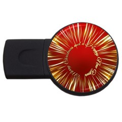 Christmas Greeting Card Star USB Flash Drive Round (4 GB)