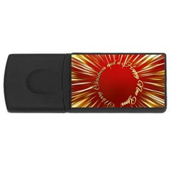 Christmas Greeting Card Star USB Flash Drive Rectangular (4 GB)