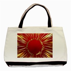 Christmas Greeting Card Star Basic Tote Bag