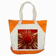 Christmas Greeting Card Star Accent Tote Bag