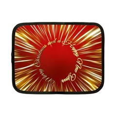 Christmas Greeting Card Star Netbook Case (small)