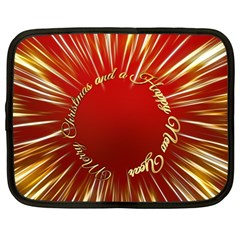 Christmas Greeting Card Star Netbook Case (Large)