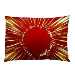 Christmas Greeting Card Star Pillow Case