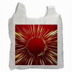 Christmas Greeting Card Star Recycle Bag (Two Side)