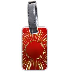 Christmas Greeting Card Star Luggage Tags (One Side)