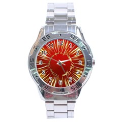 Christmas Greeting Card Star Stainless Steel Analogue Watch