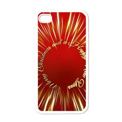 Christmas Greeting Card Star Apple Iphone 4 Case (white)