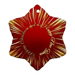 Christmas Greeting Card Star Ornament (Snowflake)