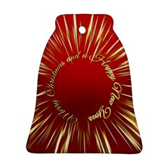 Christmas Greeting Card Star Bell Ornament (Two Sides)