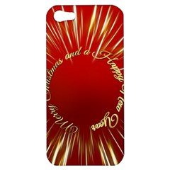 Christmas Greeting Card Star Apple Iphone 5 Hardshell Case