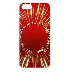 Christmas Greeting Card Star Apple iPhone 5 Seamless Case (White)
