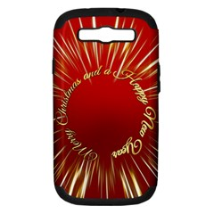 Christmas Greeting Card Star Samsung Galaxy S Iii Hardshell Case (pc+silicone)