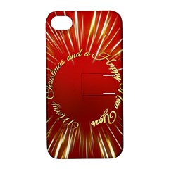 Christmas Greeting Card Star Apple iPhone 4/4S Hardshell Case with Stand