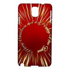 Christmas Greeting Card Star Samsung Galaxy Note 3 N9005 Hardshell Case