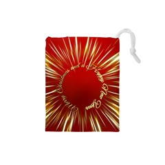 Christmas Greeting Card Star Drawstring Pouches (small)