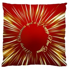 Christmas Greeting Card Star Standard Flano Cushion Case (Two Sides)