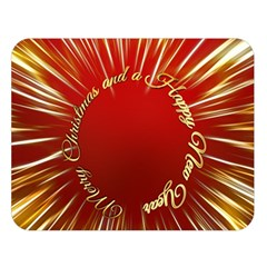 Christmas Greeting Card Star Double Sided Flano Blanket (Large)